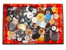 Boutons multicolores en gros plan Photos stock