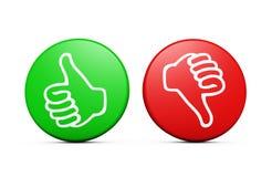 Boutons négatifs positifs de feedback de la clientèle Photographie stock