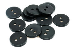 boutons noirs Photographie stock