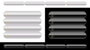 Boutons noirs et blancs pour le Web illustration stock