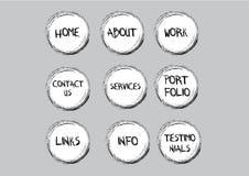 boutons peu précis de navigation Illustration de Vecteur