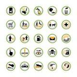 Boutons publics de pictogramme d'information Image libre de droits