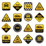Boutons réglés de taxi Photos stock