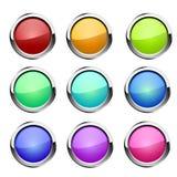 Boutons réglés Vecteur Image stock
