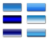 Boutons rectangulaires de Web Image stock