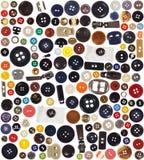 boutons réglés Image libre de droits
