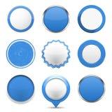 Boutons ronds bleus illustration libre de droits