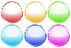 Boutons ronds colorés de Web Image libre de droits