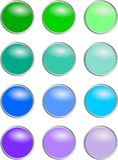 Boutons ronds - couleurs froides Image stock