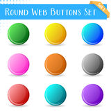 Boutons ronds de Web Images stock