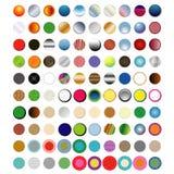 100 boutons ronds emballent photos stock