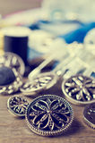 Boutons ronds en métal Image libre de droits