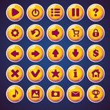 Boutons ronds réglés pour le jeu vidéo de Web illustration de vecteur