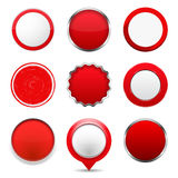 Boutons ronds rouges illustration stock