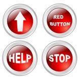 Boutons rouges Photographie stock libre de droits