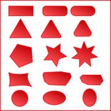Boutons rouges de site Web Le bouton de conception web prérègle la couleur rouge le bleu boutonne la version de vecteur de joueur illustration de vecteur
