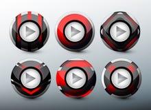 Boutons rouges de Web Photo stock