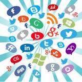 Boutons sociaux de media Image libre de droits