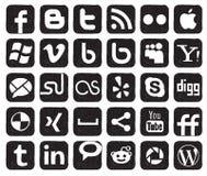 Boutons sociaux de medias Photo libre de droits