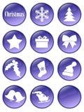 Boutons spéciaux de vacances de Noël Photographie stock libre de droits