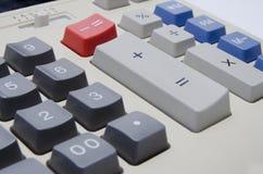 Boutons sur une calculatrice de style ancien images libres de droits