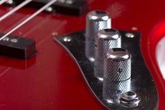 Boutons triples de bas de guitare de bas métalliques de volume photos libres de droits