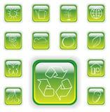 Boutons vert clair de centrale illustration libre de droits
