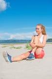 Bouts droits de jeune femme Photo stock