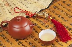 Boutures et thé de bambou Photographie stock libre de droits