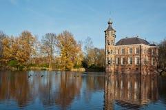 bouvigne城堡荷兰语秋天 库存照片