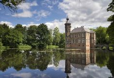 Bouvigne castle near Breda. Bouvigne castle near the Dutch town Breda seen from the surrounding park Royalty Free Stock Photo