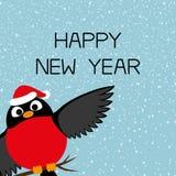 Bouvreuil et bonne année Photos stock