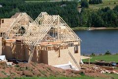 Bouw 2 van het nieuwe Huis stock afbeelding