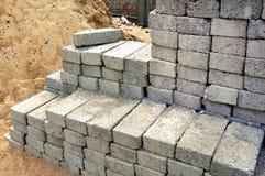 Bouw concrete blokken stock fotografie
