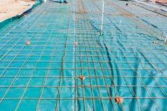 Bouw Concrete Gietende Draad Stock Foto's