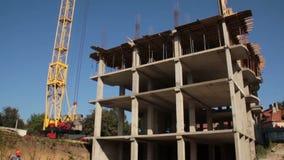 bouw De bouw Mens anker Kraan stock videobeelden
