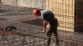 bouw De bouw Mens anker Kraan stock footage