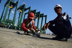 Bouw de nieuwe haven van Tanjung Priok Royalty-vrije Stock Afbeelding
