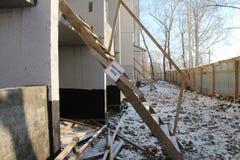Bouw, die een nieuw huis bouwen Royalty-vrije Stock Afbeelding