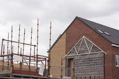 Bouw een nieuw huis Stock Foto