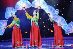 Bouw een opeenvolging op -Koreaanse dans Stock Afbeelding
