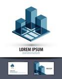 bouw Embleem, pictogram, teken, embleem, malplaatje vector illustratie