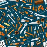 Bouw en reparatiehulpmiddelen naadloos behang vector illustratie
