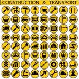 Bouw en vervoer stock illustratie