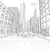 Bouw het Imperiumstaat Chrysler die van Londen New York stadslan bouwen stock illustratie