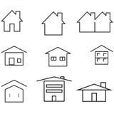 Bouw het Pictogram vectoreps10 reeks van de pictogram minimale stijl Stock Foto's