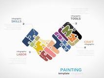 Bouw het schilderen vector illustratie