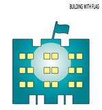 Bouw het symboolontwerp van het vlag editable pictogram royalty-vrije illustratie