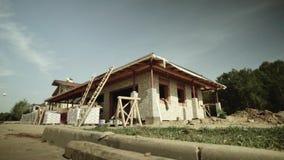 Bouw house stock videobeelden