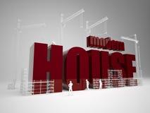 Bouw modern huis Stock Afbeeldingen